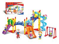 Large slide child slide futhermore 68pcs