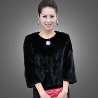 Marten fur coat overcoat Women fight mink design short fur coat natural fur