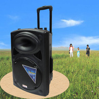 Plastic battery speaker high power outdoor sound mount