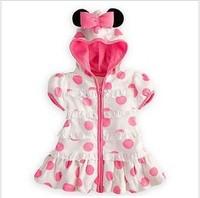2013 new minnie dress children's clothing flower girl's princess dress kid's t-shirt 5pcs/lot
