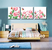 3 Panels Wonderful Colorful Spring Flowers Modern Canvas Painting Living Room Decor Wall Hunging Picture Art Pt542 No Frame