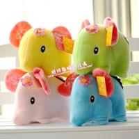 Multicolour Baby elephant plush toy doll wedding gifts