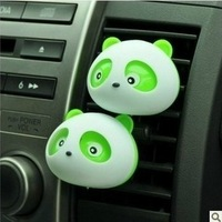 Wholesale 10 pcs/lot Free shipping  Cute panda Air Freshener Perfume Diffuser for Auto Car perfume holder #SSS