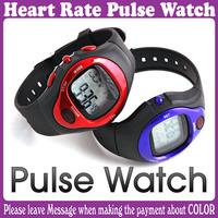 3 pcs/Lot_Fashion Pulse Heart Rate Counter Calories Monitor  Waterproof Sport Watch _Free Shipping