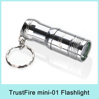 TrustFire Mini-01 CREE XM-L T6 LED Flashlight Keychain Pocket Torch 300Lumens + 3V CR123A Battery Waterproof Drop Shipping