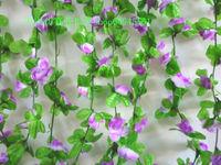Small rose vine artificial flower rattails qihii air conditioning duct rustic plastic vine
