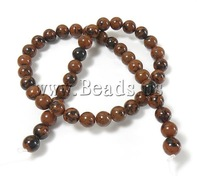 Free shipping!!!Mahogany Obsidian Beads,2013, Round, natural, 10mm, Hole:Approx 1.5mm, Length:Approx 15.5 Inch, 10Strands/Lot