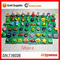 2015 New Plants VS Zombies Game Action Figure Toys Sets Crazy Party Version For Children Kids Baby Toy Gift 58PCS/Set