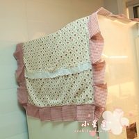 Rustic fabric refrigerator cover cotton cloth dust cover towel single-door double-door rose 0.1 - 0.25