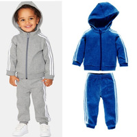 Free shipping Children's sports suit 2013 new boys hooded leisure sports suit 5set/lot