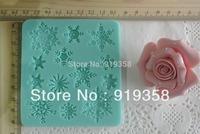 Free Shipping New style large wholesale hot sale Snow Shape Shape chocolate silicon mold fondant Cake decoration mold (WX-084)