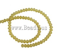 Free shipping!!!Rond Crystal Beads,jewelry lot, imitation  crystal, Lt Topaz, 4x6mm, Hole:Approx 1mm, Length:16 Inch
