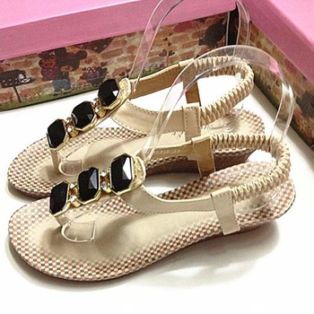 Small wedges honourable gorgeous gem rhinestone flip-flop flip sandals comfortable massage bottom women's shoes