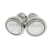 Free shipping!!!Brass Magnetic Clasp,Designs, Round, platinum color plated, nickel, lead & cadmium free, 11.40x5mm