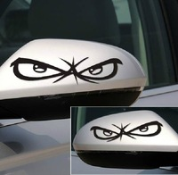 Personalized cartoon car rearview mirror sticker the casualness 3m reflective car stickers a pair of