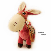 LFTE cute world cartoon stuffed plush toy doll donkey, amazing gift for children and cartoon fans and fabulous home decorations