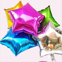 Free Shipping 50Pcs/Lot 18'' Star Shape Aluminum Foil Metallic latex Balloon For Party Decorations,Wholesale Ballon Toys