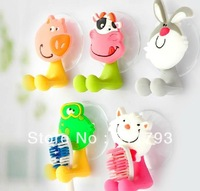 High quality Free shipping cute Cartoon sucker toothbrush holder / suction hooks 6pcs/lot