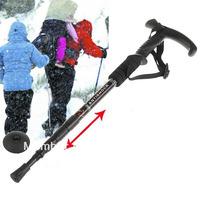 4-Section Anti-Shock Aluminium Telescopic Mountaineering Hiking Trekking Walking Skiing Pole Stick HUI-8673