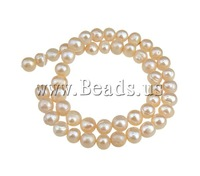 Free shipping!!!Potato Cultured Freshwater Pearl Beads,Hot Selling, natural, pink, 8-9mm, Hole:Approx 0.8mm, Length:15 Inch