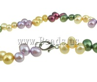 Free shipping!!!Natural Freshwater Pearl Necklace,Western Jewelry, Cultured Freshwater Pearl, mixed colors, 7-8mm