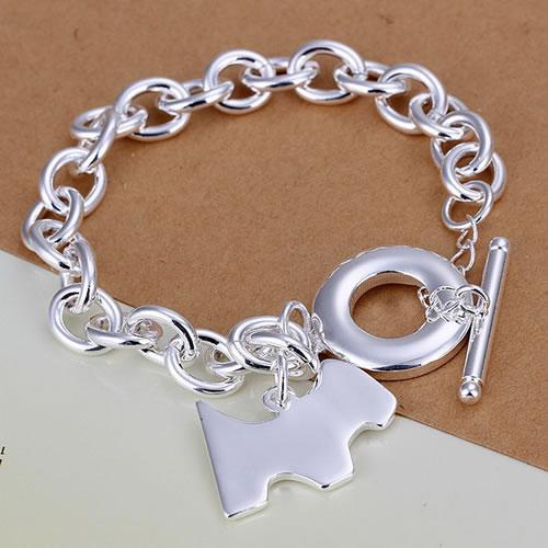 H276 Free Shipping Wholesale 925 silver bracelet, 925 silver fashion jewelry Dog tags TO bracelet /cfcakwjatn(China (Mainland))