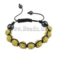 Free shipping!!!Resin Shamballa Bracelets,2013 new fashion, with Nylon Cord & Non-magnetic Hematite & Resin Rhinestone, woven