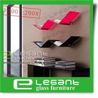 2013 Simple Glass Wall Shelf/Glass Bookshelf-S083