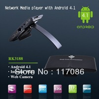 Freeshipping original MK818 android4.2os dual core tv box RK3066 1GB DDR3 8GB HDMI/TF Card Mini PC Set TV Box wholesale
