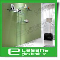 2013 Clear Glass Wall Shelf/Book Shelf -S087