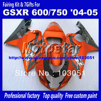7 GIFTS orange red black ay18 body work Fairings for Suzuki GSX R600 2004 GSX R750 2005 GSXR600 GSXR750 04 05 K4 fairing kit