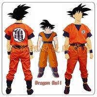 Halloween cosplay costume for kids and men animedragon ball z full set and wig disfraz para goku fantasias costumes