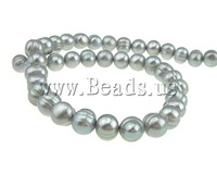 Free shipping!!!Round Cultured Freshwater Pearl Beads,2013 designer brand women, natural, grey, A, 10-11mm, Hole:Approx 0.8mm