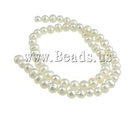 Free shipping!!!Baroque Cultured Freshwater Pearl Beads,New 2013 Jewelry, Round, 6-7mm, Hole:Approx 0.8mm, Length:14.5 Inch