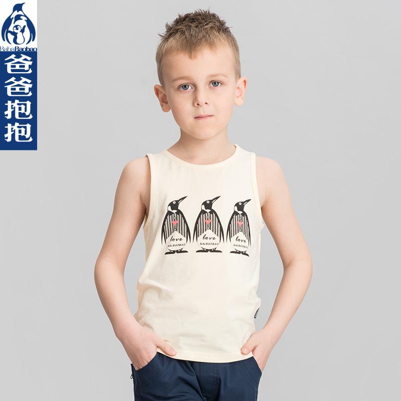 Child vest male child summer sleeveless vest baby 100 cotton