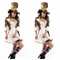 Sexy 6pc Mad Hatter Tea Party Corset Tutu Fancy Dress Outfit Alice In Wonderland