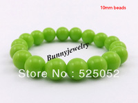 Min.order is $10(mix order) Free shipping! Cute Children's Bracelet 10mm Acrylic Beads Brcaelet 10 Colors Choosen