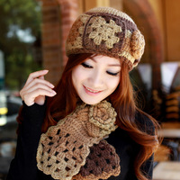 Free Shipping!!! Summer sheep winter knitted scarf hat twinset women's millinery autumn and winter hat
