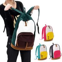 HOT SALE !!2013 bags casual backpack women colorful canvas shoulder bag girls school bag the Knapsack Rucksack  100-6