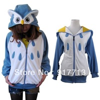 Wholesale! Free Shipping!  Fashion Lovely Owl Japan Cute Costume Owl Unisex Adult Animal Hoodie Hoody Lovely Owl Costume