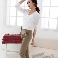 Formal women's casual all-match pants high waist harem pants slim skinny pants trousers