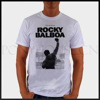 ROCKY BALBOA POSTER movie  T-shirt cotton Lycra top ROCK N ROLL