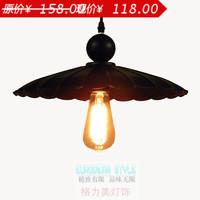 American vintage black tieyi single head lighting classical dining room lamp