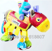 discount sales promotion Lamaze knight and horse plush educational bed bell toy,yellow lamaze bed hang/bell baby mobile
