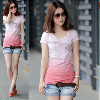 2013 summer loose t-shirt short-sleeve t-shirt female summer short-sleeve basic shirt lovers t-shirt
