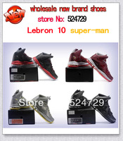 Free Shipping cheap 2013 lebron 10 generations super-man men baskteball shoes Lebron basketball branded, Support wholesale