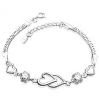 Saveiar fashion accessories 925 pure silver bracelet female silver bracelet gift silver jewelry popular