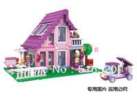 Ausini Princess Romantic House 24801 Building Blocks Sets 576pcs Legoland Educational DIY Bricks Toys For Children
