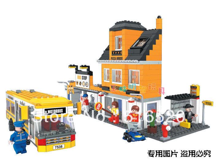 ausini городской автобус 25801 строительные блоки