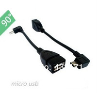 wholesale 500pcs Micro USB OTG Host Cable For Galaxy SII S2 S3 i9100 i9300 Free shipping